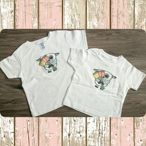 Other - New cute lamb with flowers white kids shirt